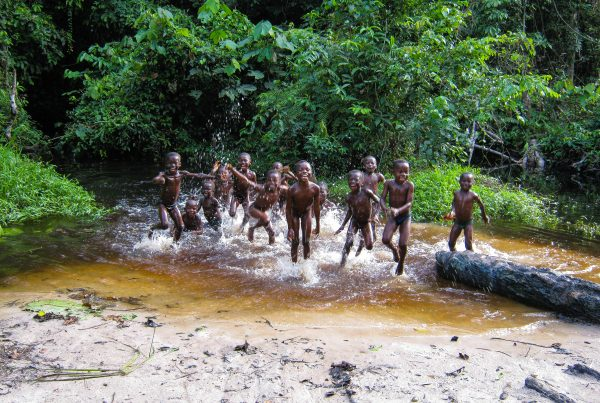 Children playing in the Isangi project, Democratic Republic of the Congo.