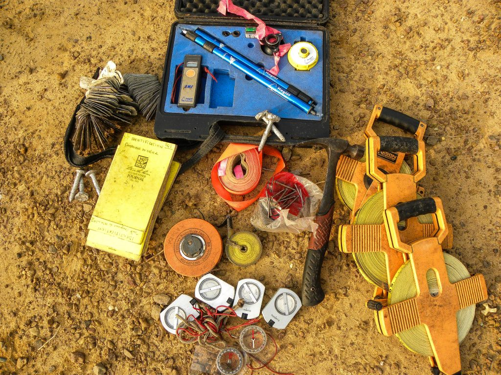 Forest survey tools used for data collection in the Isangi project, Democratic Republic of the Congo.