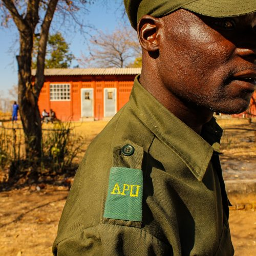 A member of the Kariba Wildlife Corridor anti-poaching team.