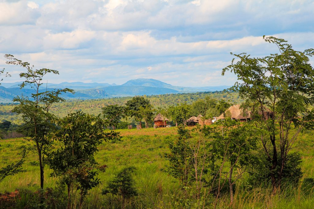 Fields and houses in the Kariba Wildlife Corridor project.
