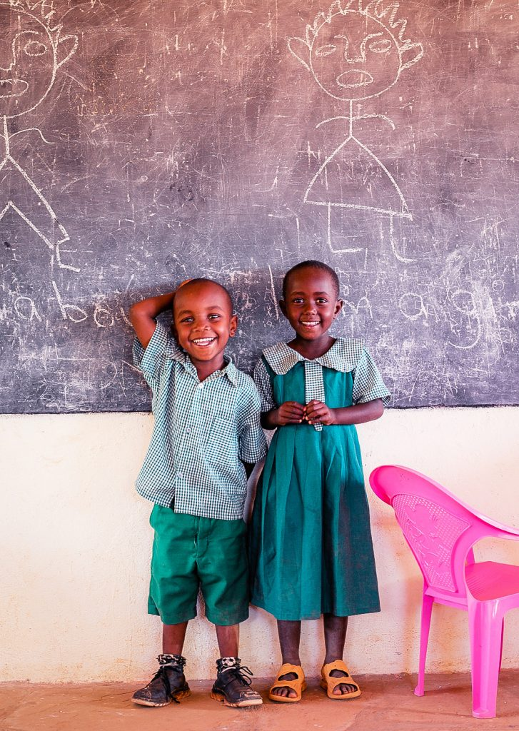 Children in the Kasigau Wildlife Corridor project, Kenya.