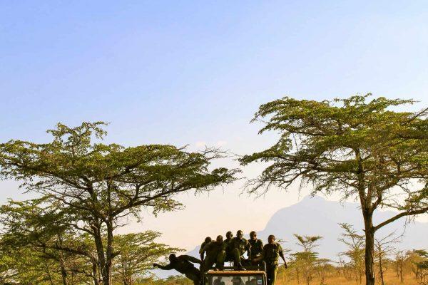 Rangers patrolling in the Kasigau Wildlife Corridor.