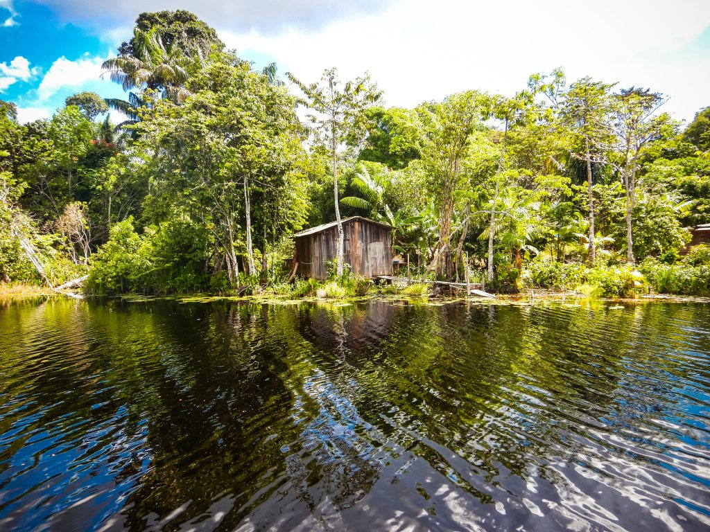 A house along the water in the Brazilian Rosewood project.