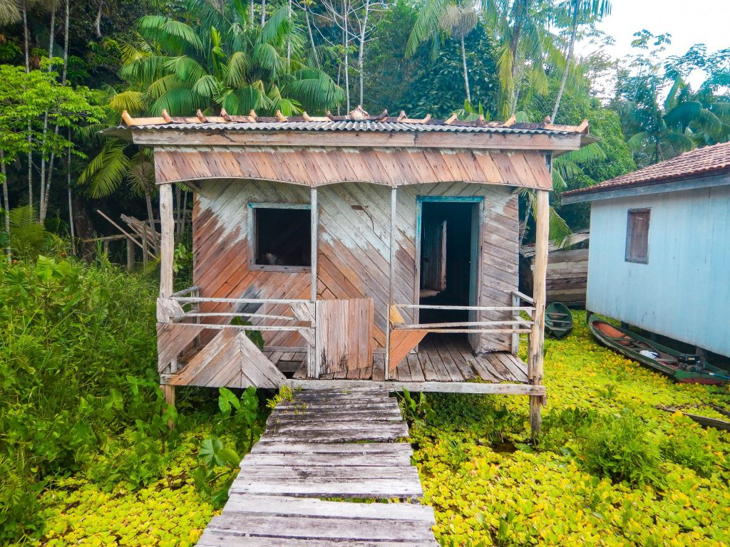 A house in the Amazon Forest project, Para, Brazil.