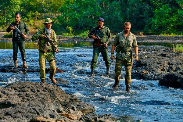 Rangers patrolling in the Southern Cardamom project, Cambodia.