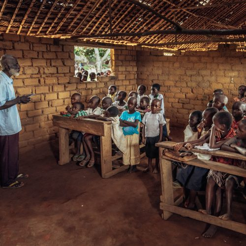 School in session in a community of the Mai Ndombe project, DRC. Photo credit: Filip C. Agoo for Wildlife Works Carbon.