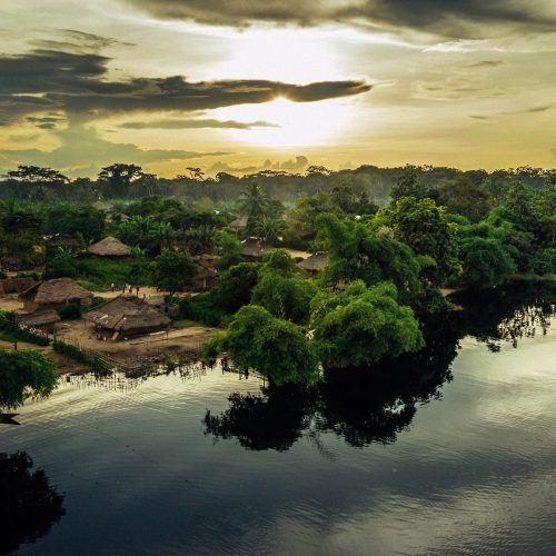 The landscape of Lac Mai Ndombe, DRC. Photo credit: Filip C. Agoo for Wildlife Works Carbon.
