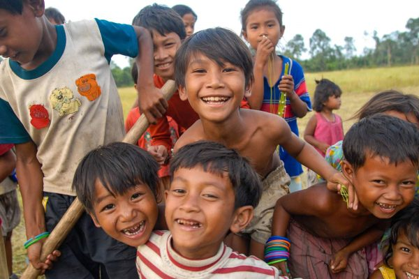 Children playing in the Southern Cardamom project, Cambodia
