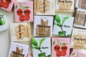 True Gum's gum flavours and packaging.
