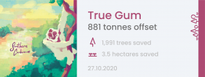 True Gum's offset tag from Oct 27, 2020